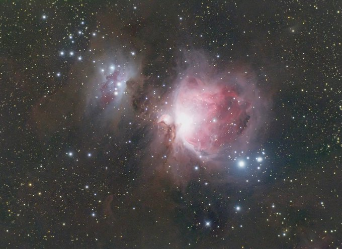 This is 2 hours 51 minutes of 2 minute exposures with a colour camera. A moonless night too which is rare.